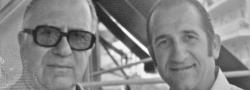 1970. Athen, Griechenland. Cosmas Yiapitzoglou wiedervereinigt mit dem Autor.