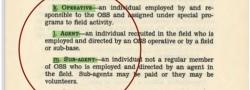 Klare Abgrenzung der Begriffe: Geheimagent, Agent, Substitut, Informant.