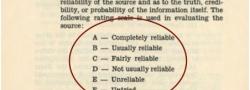 Hier die Prioritätseinstufung von Informationen anhand  ihrer Verwertbarkeit.
