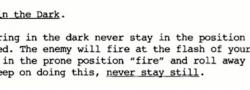 Κανόνες χρήσης του όπλου στο σκοτάδι