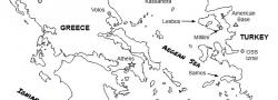 Mainland Greece and western Turkey