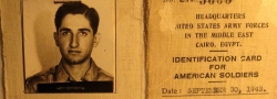 Corporal Helias Doundoulakis' United States Army ID card, U.S. Army Forces in the Middle East