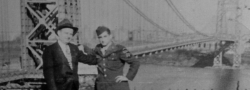 1946. The author settling in Brooklyn, here photographed by the Manhattan Bridge.