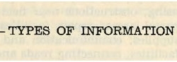 LISTING OF CRUCIAL INFORMATION TO THE OSS