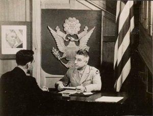 Col. John Vassos, CO at the OSS Spy School, Cairo, Egypt