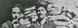 1942. Kapitän Leigh Fermor, rechts, mit George  Doundoulakis im Psiloritis Gebirge.