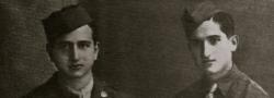 16. September, 1943. Induktionstag in die Amerikanische Armee. George und Helias Doundoulakis, Kairo Ägypten.