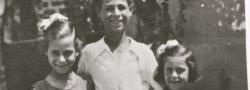 1944. Sultanitsa's Kinder: Serron mit 10, Salonica mit dem Jungen, Apostolaki, in der Mitte. Die Namen der Mädchen sind schon längst vergessen.