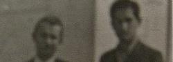 Dezember, 1944. Helias Doundoulakis mit Nicos Oreopoulos in der Jüdischen Textil Frabrik, wo sie die Drahtlosen Radios versteckten. Foto am letzten Tag der Übertragung zu Kairo OSS, genommen.
