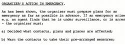 Verhalten des Organisators im Notfall.