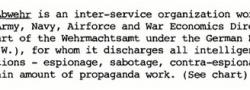 Abwehr, η Υπηρεσία Πληροφοριών του Γερμανικού Στρατού