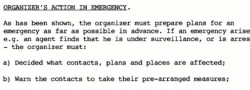 Organizer's responsibility in case of an emergency